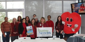 Me and my friends at NJ Sharing Network sporting our red today! We're also gearing up for our biggest heart-healthy event - our 5K Walk/Race on June 9th!